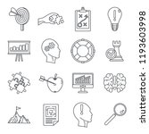problem solution icon set.... | Shutterstock .eps vector #1193603998