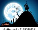 illustration halloween festival ... | Shutterstock .eps vector #1193604085
