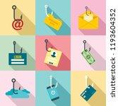 phishing icon set. flat set of...   Shutterstock .eps vector #1193604352