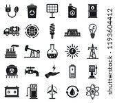 ecology icon set. simple set of ... | Shutterstock .eps vector #1193604412