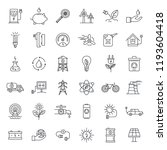 ecology day icon set. outline... | Shutterstock .eps vector #1193604418
