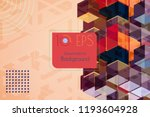 abstract vector 3d colorful... | Shutterstock .eps vector #1193604928