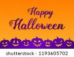 concept of halloween background ... | Shutterstock .eps vector #1193605702