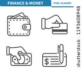 finance   money icons.... | Shutterstock .eps vector #1193608948