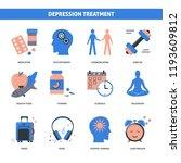 depression treatment concept... | Shutterstock .eps vector #1193609812