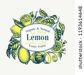 lemon tree banner template....   Shutterstock .eps vector #1193614648