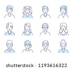 simple set of avatars icons.... | Shutterstock . vector #1193616322