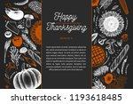 happy thanksgiving day design... | Shutterstock .eps vector #1193618485