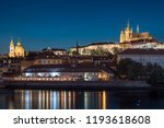 prague panorama at night | Shutterstock . vector #1193618608