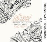 bakery top view banner template.... | Shutterstock .eps vector #1193620708