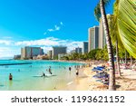 honolulu  hawaii   february 16  ... | Shutterstock . vector #1193621152