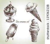ice cream set. hand drawn... | Shutterstock .eps vector #119362138