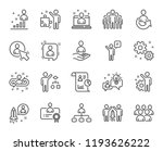 management line icons. set of... | Shutterstock . vector #1193626222