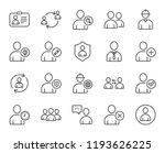 users line icons. profile ... | Shutterstock . vector #1193626225