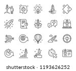 startup line icons. set of... | Shutterstock . vector #1193626252