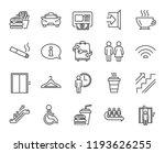 public services line icons. set ... | Shutterstock . vector #1193626255