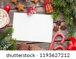 christmas greeting card  coffee ... | Shutterstock . vector #1193627212
