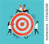 target with an arrow. goal... | Shutterstock .eps vector #1193628268