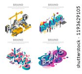 branding digital marketing... | Shutterstock .eps vector #1193629105