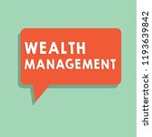 text sign showing wealth... | Shutterstock . vector #1193639842