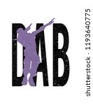 dab dance t shirt | Shutterstock .eps vector #1193640775
