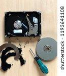 disassembled hard drive.... | Shutterstock . vector #1193641108