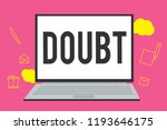 writing note showing doubt....   Shutterstock . vector #1193646175