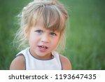 child  childhood concept. girl... | Shutterstock . vector #1193647435
