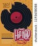 hip hop poster template design... | Shutterstock .eps vector #1193658088