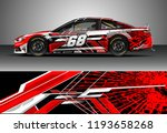 car wrap design vector. graphic ... | Shutterstock .eps vector #1193658268