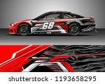 car wrap design vector. graphic ... | Shutterstock .eps vector #1193658295