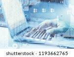 virtual computer technology.... | Shutterstock . vector #1193662765