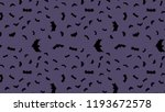vector black flying bats... | Shutterstock .eps vector #1193672578