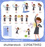 a set of bad condition women on ... | Shutterstock .eps vector #1193675452