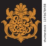 stay salty. vector hand drawn...   Shutterstock .eps vector #1193678458