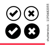 checkmark vector icon  approved ... | Shutterstock .eps vector #1193682055