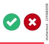 checkmark vector icon  approved ...   Shutterstock .eps vector #1193682058