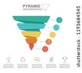 pyramid infographics. funnel... | Shutterstock .eps vector #1193684545