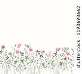 seamless floral border with... | Shutterstock .eps vector #1193693662