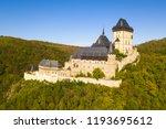 aerial view of karlstejn castle.... | Shutterstock . vector #1193695612