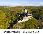 aerial view of karlstejn castle.... | Shutterstock . vector #1193695615