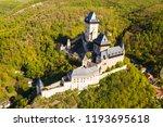 aerial view of karlstejn castle.... | Shutterstock . vector #1193695618