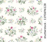 seamless floral pattern with... | Shutterstock .eps vector #1193696128