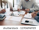 business team colleagues... | Shutterstock . vector #1193696935