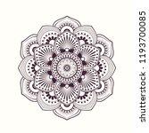 vector henna mandalas style...   Shutterstock .eps vector #1193700085