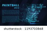 paintball of particles on a...   Shutterstock .eps vector #1193703868