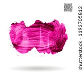pink brush stroke and texture.... | Shutterstock .eps vector #1193705812