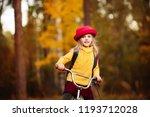 cheerful blonde babe 6 years... | Shutterstock . vector #1193712028