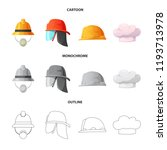vector design of headgear and... | Shutterstock .eps vector #1193713978