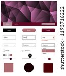dark purple  pink vector ui kit ...